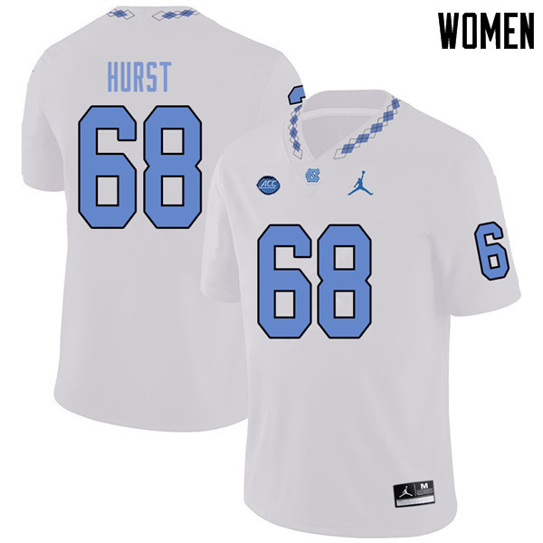 Jordan Brand Women #68 James Hurst North Carolina Tar Heels College Football Jerseys Sale-White