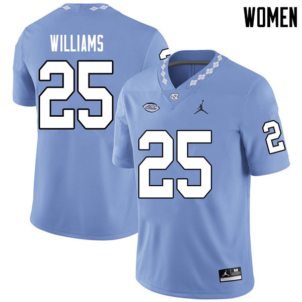 Jordan Brand Women #25 Javonte Williams North Carolina Tar Heels College Football Jerseys Sale-Carol