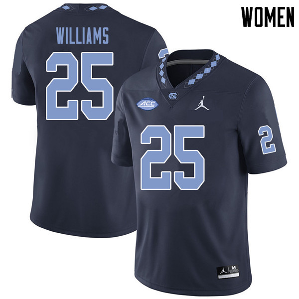 Jordan Brand Women #25 Javonte Williams North Carolina Tar Heels College Football Jerseys Sale-Navy