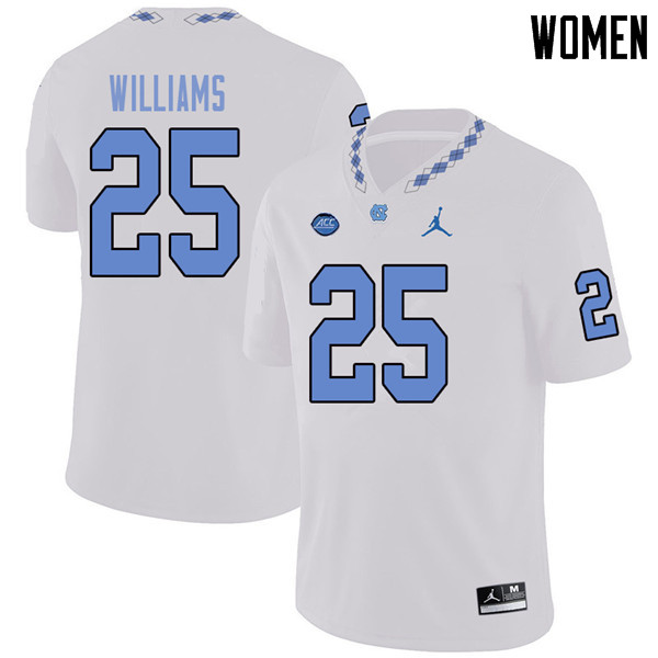 Jordan Brand Women #25 Javonte Williams North Carolina Tar Heels College Football Jerseys Sale-White