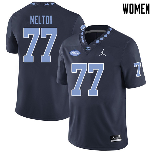 Jordan Brand Women #77 Jonah Melton North Carolina Tar Heels College Football Jerseys Sale-Navy