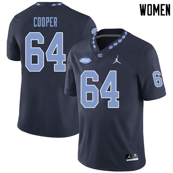 Jordan Brand Women #64 Jonathan Cooper North Carolina Tar Heels College Football Jerseys Sale-Navy