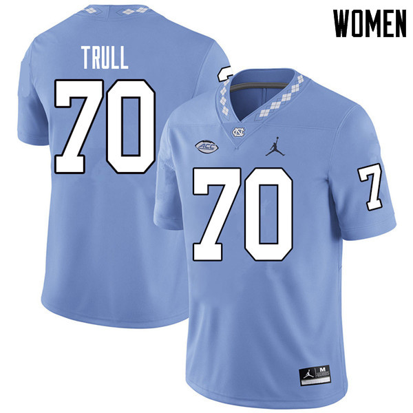 Jordan Brand Women #70 Jonathan Trull North Carolina Tar Heels College Football Jerseys Sale-Carolin