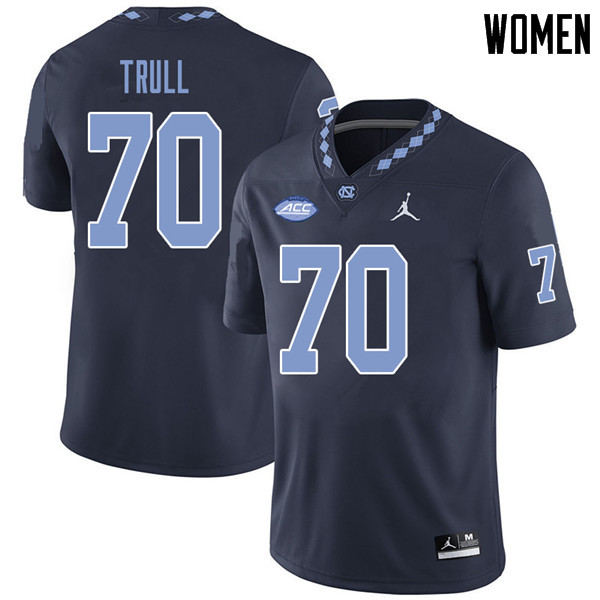 Jordan Brand Women #70 Jonathan Trull North Carolina Tar Heels College Football Jerseys Sale-Navy