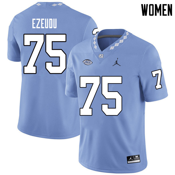 Jordan Brand Women #75 Joshua Ezeudu North Carolina Tar Heels College Football Jerseys Sale-Carolina