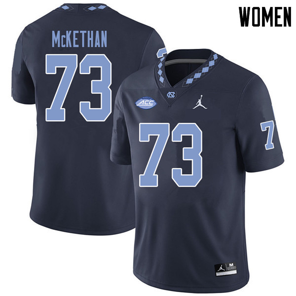 Jordan Brand Women #73 Marcus McKethan North Carolina Tar Heels College Football Jerseys Sale-Navy