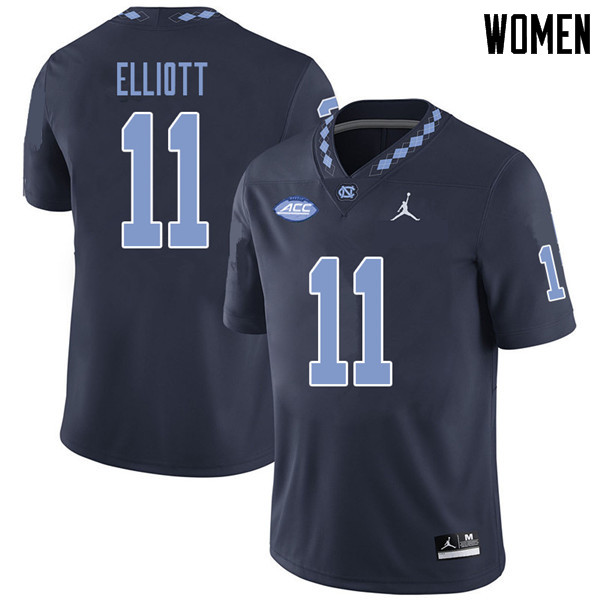 Jordan Brand Women #11 Nathan Elliott North Carolina Tar Heels College Football Jerseys Sale-Navy