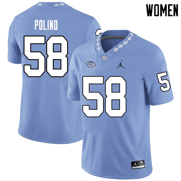Jordan Brand Women #58 Nick Polino North Carolina Tar Heels College Football Jerseys Sale-Carolina B