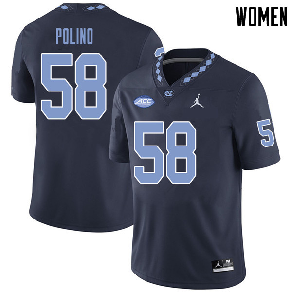 Jordan Brand Women #58 Nick Polino North Carolina Tar Heels College Football Jerseys Sale-Navy