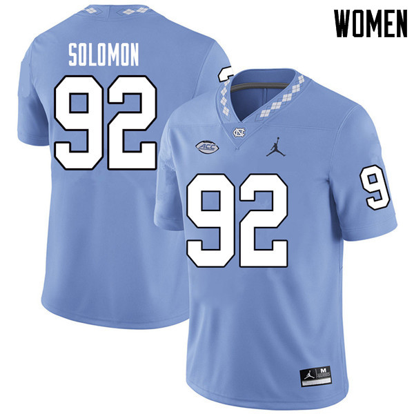 Jordan Brand Women #92 Nicky Solomon North Carolina Tar Heels College Football Jerseys Sale-Carolina