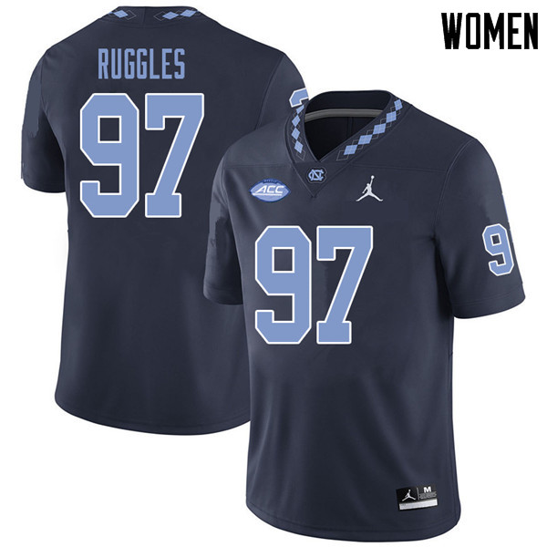 Jordan Brand Women #97 Noah Ruggles North Carolina Tar Heels College Football Jerseys Sale-Navy
