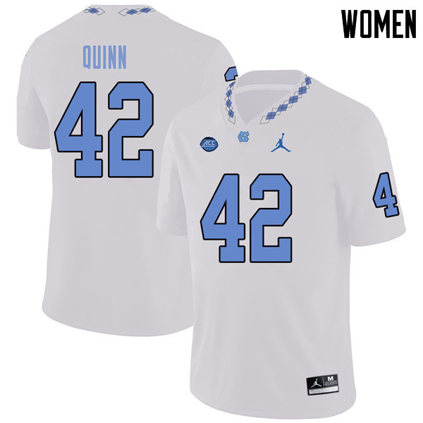 Jordan Brand Women #42 Robert Quinn North Carolina Tar Heels College Football Jerseys Sale-White
