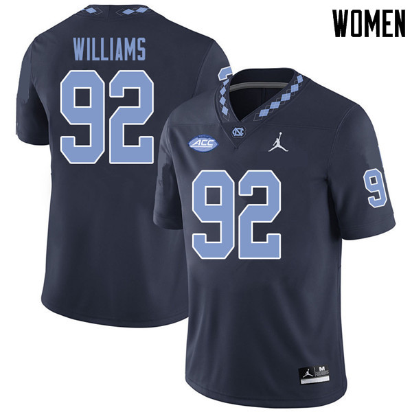 Jordan Brand Women #92 Sylvester Williams North Carolina Tar Heels College Football Jerseys Sale-Nav