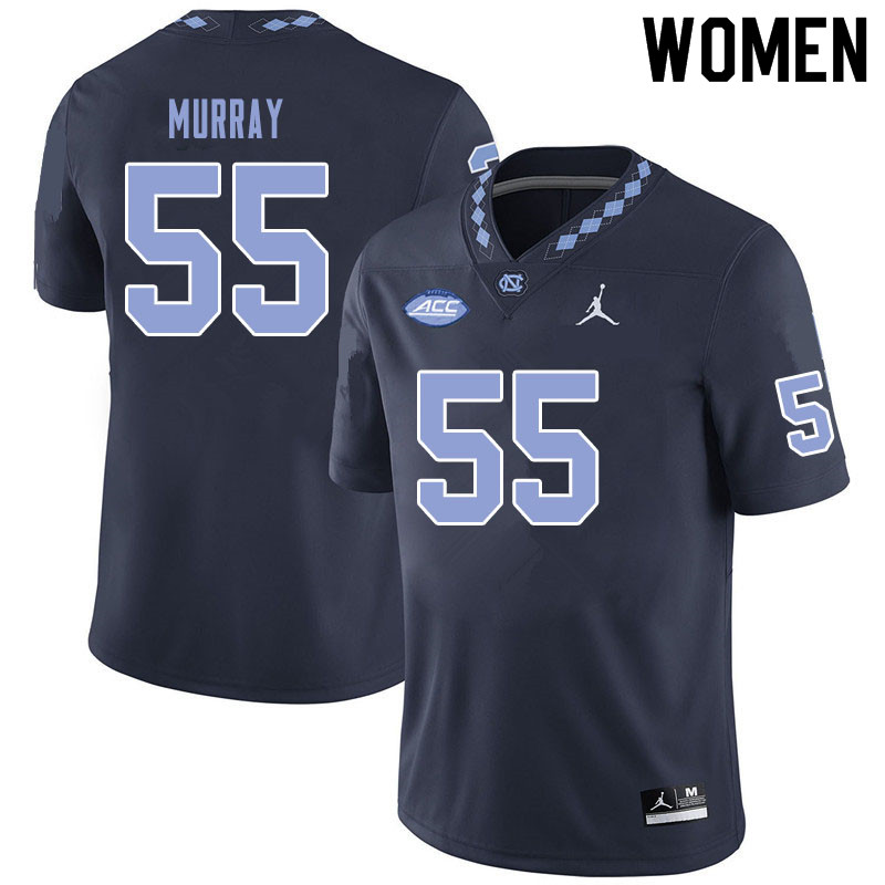 Jordan Brand Women #55 Ty Murray North Carolina Tar Heels College Football Jerseys Sale-Black