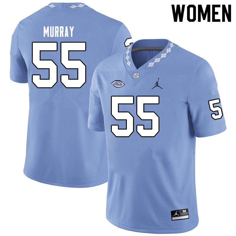 Jordan Brand Women #55 Ty Murray North Carolina Tar Heels College Football Jerseys Sale-Blue