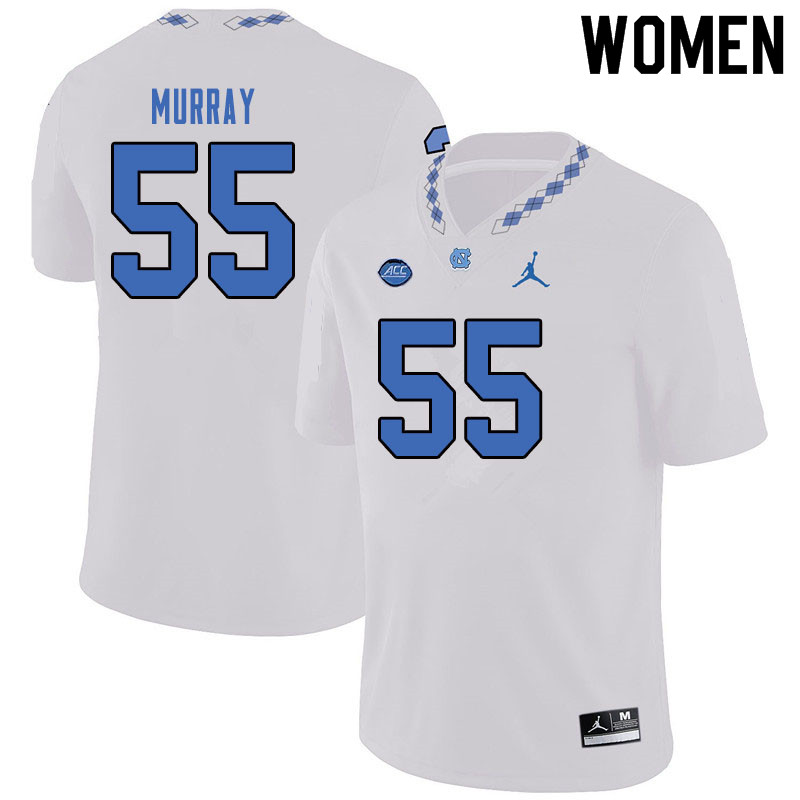 Jordan Brand Women #55 Ty Murray North Carolina Tar Heels College Football Jerseys Sale-White