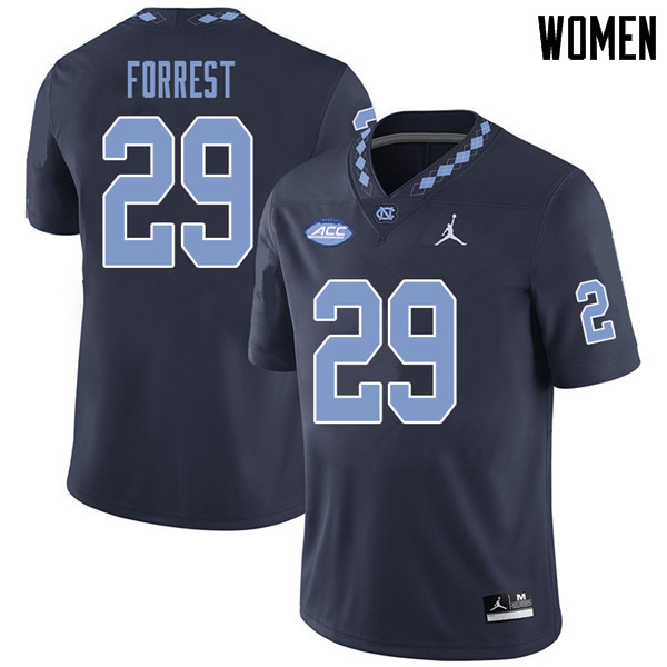 Jordan Brand Women #29 Will Forrest North Carolina Tar Heels College Football Jerseys Sale-Navy