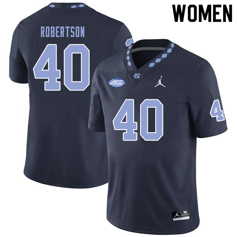 Jordan Brand Women #40 William Robertson North Carolina Tar Heels College Football Jerseys Sale-Blac
