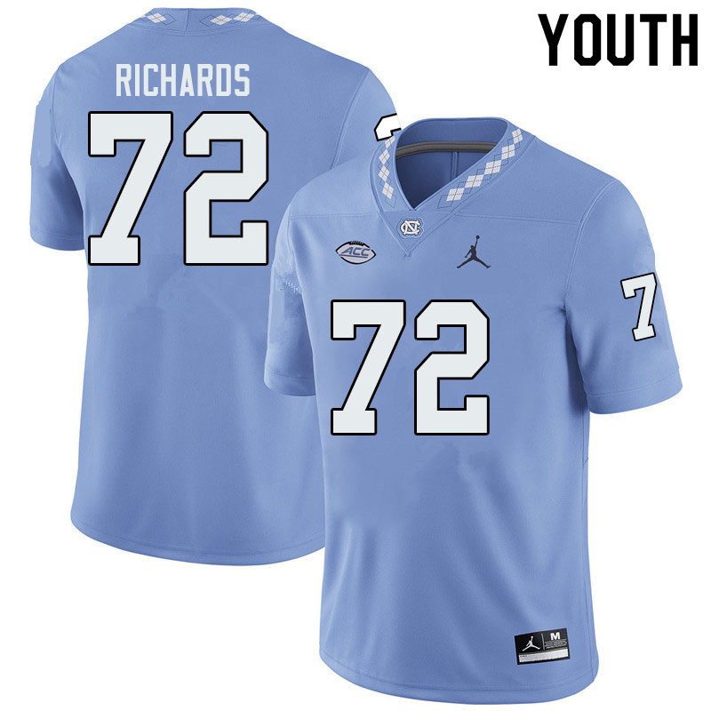 Jordan Brand Youth #72 Asim Richards North Carolina Tar Heels College Football Jerseys Sale-Blue