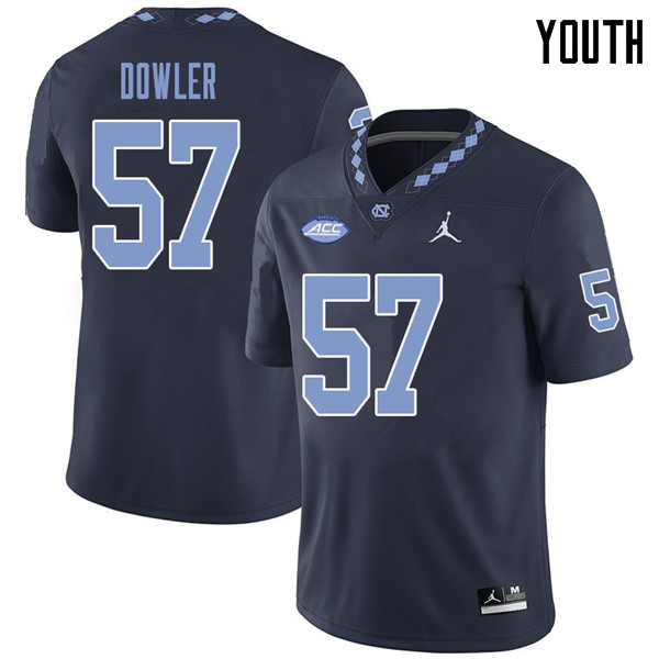 Jordan Brand Youth #57 Austin Dowler North Carolina Tar Heels College Football Jerseys Sale-Navy