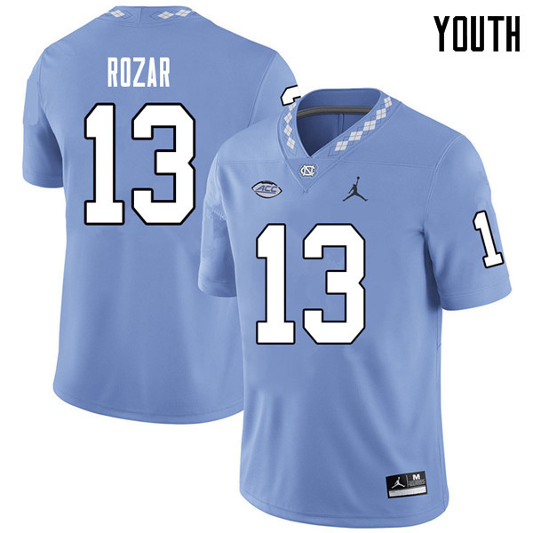Jordan Brand Youth #13 Caleb Rozar North Carolina Tar Heels College Football Jerseys Sale-Carolina B