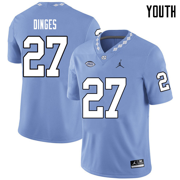 Jordan Brand Youth #27 Jack Dinges North Carolina Tar Heels College Football Jerseys Sale-Carolina B