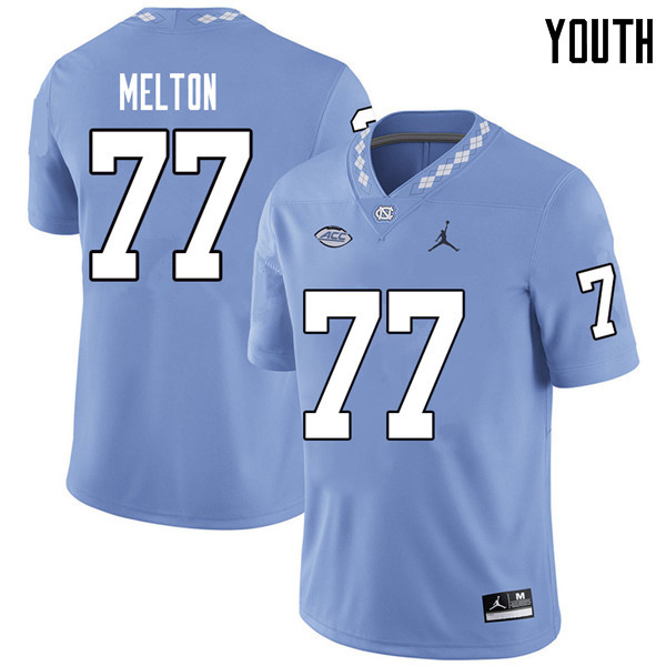 Jordan Brand Youth #77 Jonah Melton North Carolina Tar Heels College Football Jerseys Sale-Carolina