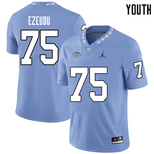 Jordan Brand Youth #75 Joshua Ezeudu North Carolina Tar Heels College Football Jerseys Sale-Carolina