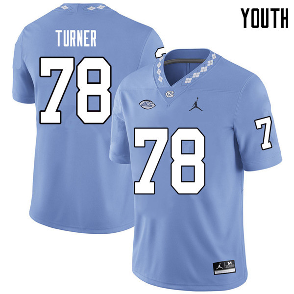 Jordan Brand Youth #78 Landon Turner North Carolina Tar Heels College Football Jerseys Sale-Carolina