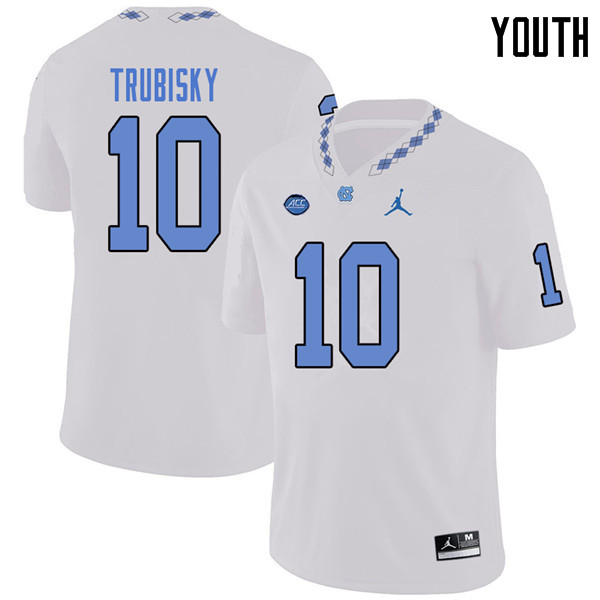 Jordan Brand Youth #10 Mitchell Trubisky North Carolina Tar Heels College Football Jerseys Sale-Whit