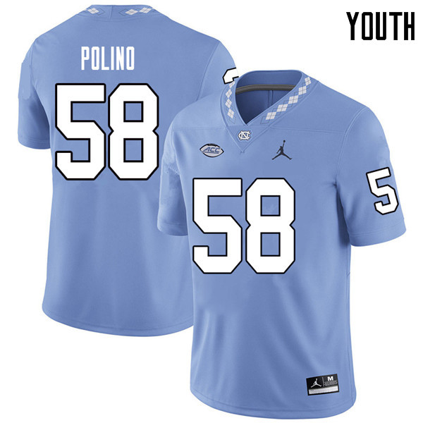 Jordan Brand Youth #58 Nick Polino North Carolina Tar Heels College Football Jerseys Sale-Carolina B