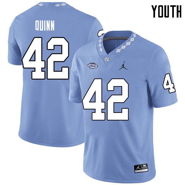 Jordan Brand Youth #42 Robert Quinn North Carolina Tar Heels College Football Jerseys Sale-Carolina