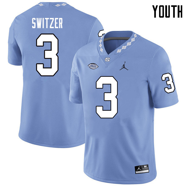 Jordan Brand Youth #3 Ryan Switzer North Carolina Tar Heels College Football Jerseys Sale-Carolina B