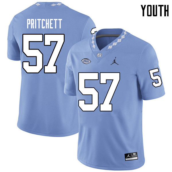 Jordan Brand Youth #57 Tyler Pritchett North Carolina Tar Heels College Football Jerseys Sale-Caroli