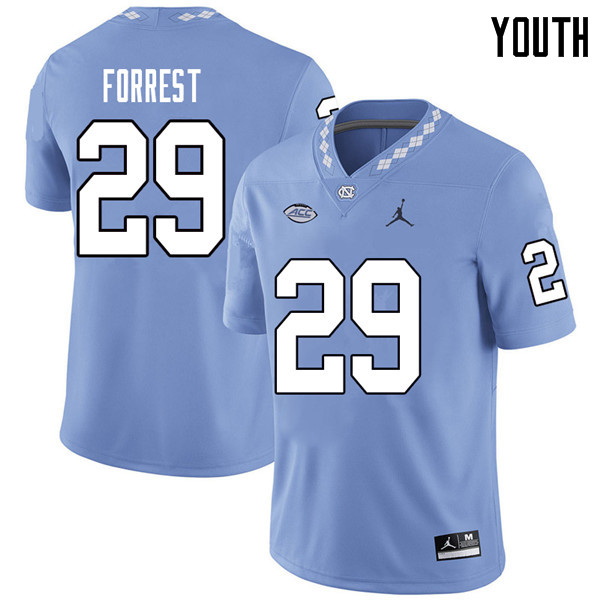 Jordan Brand Youth #29 Will Forrest North Carolina Tar Heels College Football Jerseys Sale-Carolina