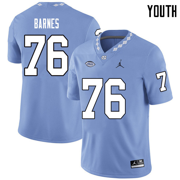 Jordan Brand Youth #76 William Barnes North Carolina Tar Heels College Football Jerseys Sale-Carolin